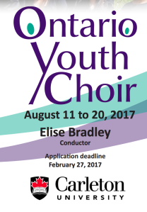 Ontario Youth Choir 2017